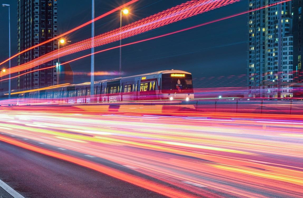 rail monitoring lighting